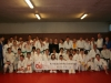 le groupe des judokas sur tatamis