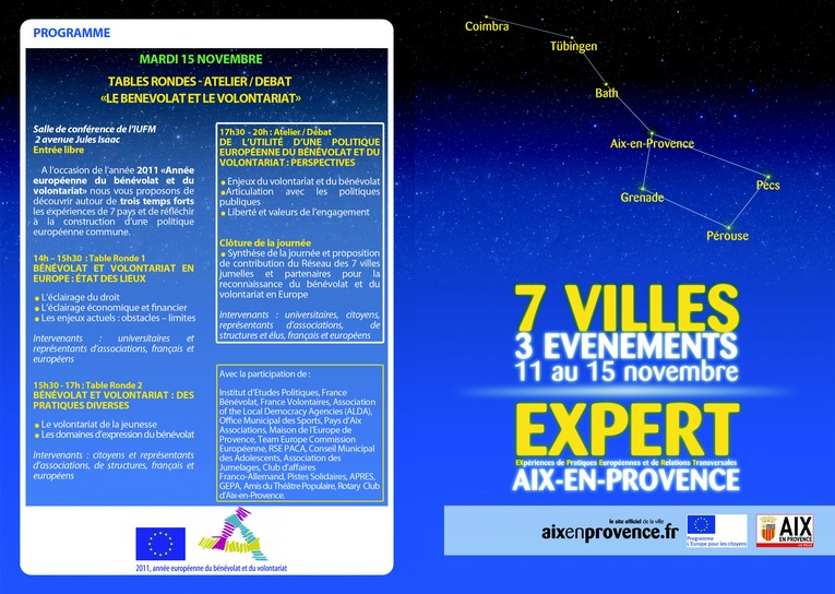 PROGRAMME_EUROPE-RECTO Expert, nov 2011
