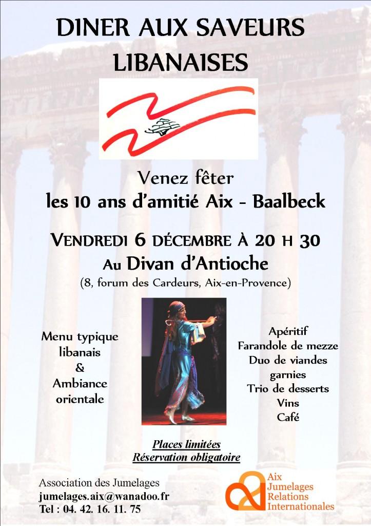 Affiche menu Baalbeck