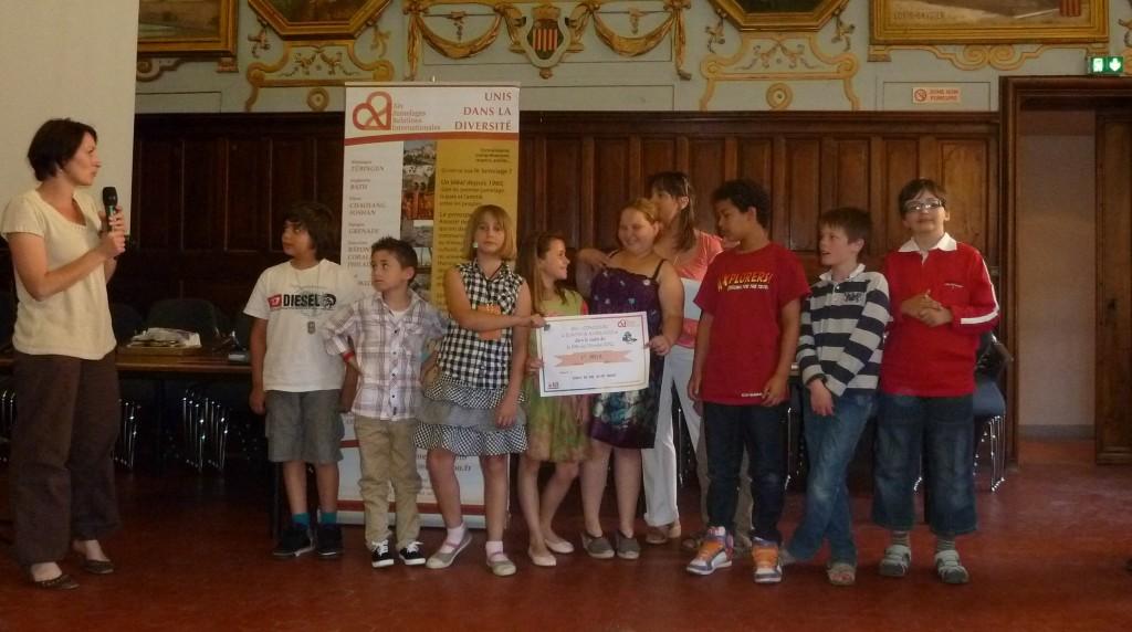Remise des prix du concours Europe-Jumelages Juin 2012