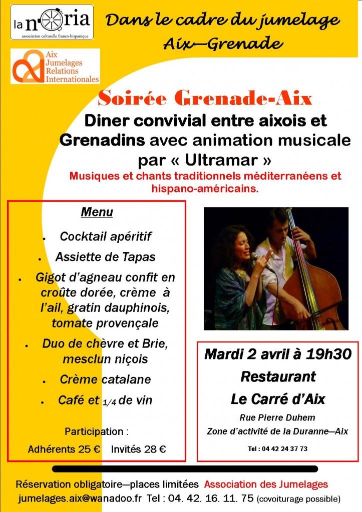 Grenade Diner 2 avril affiche