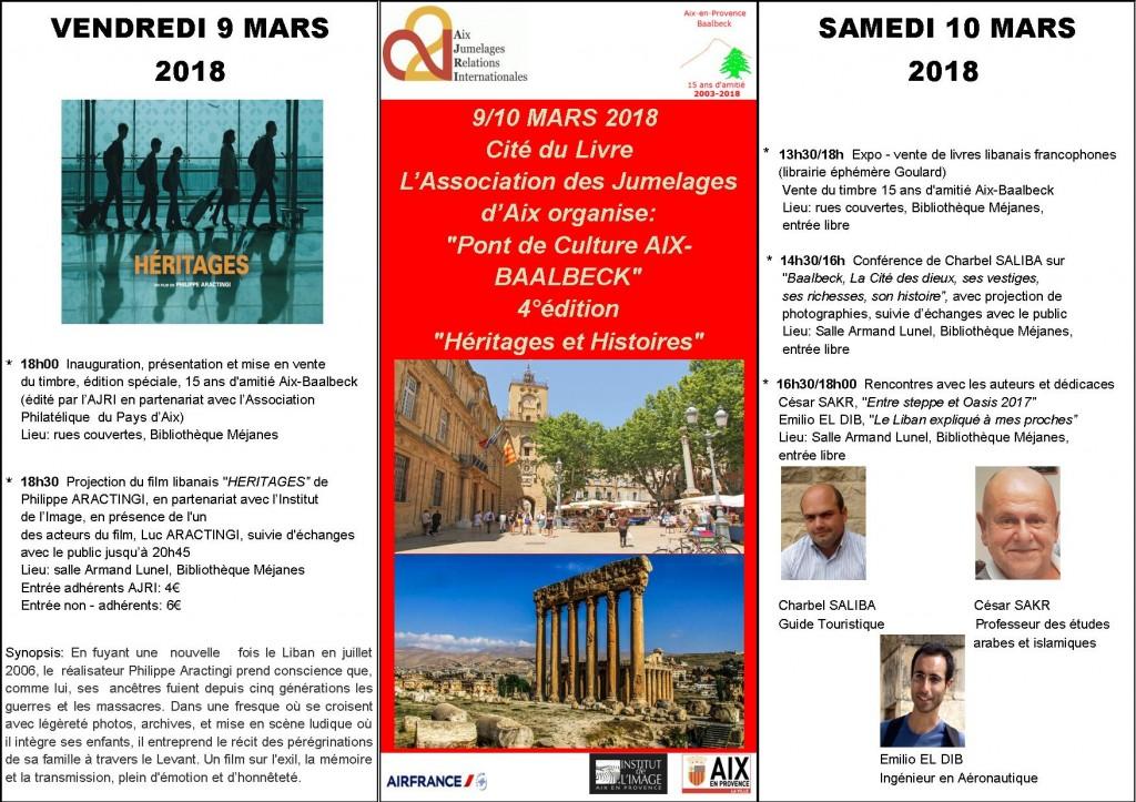 Affiche_Pont de Culture Aix-Baalbeck_4°édition