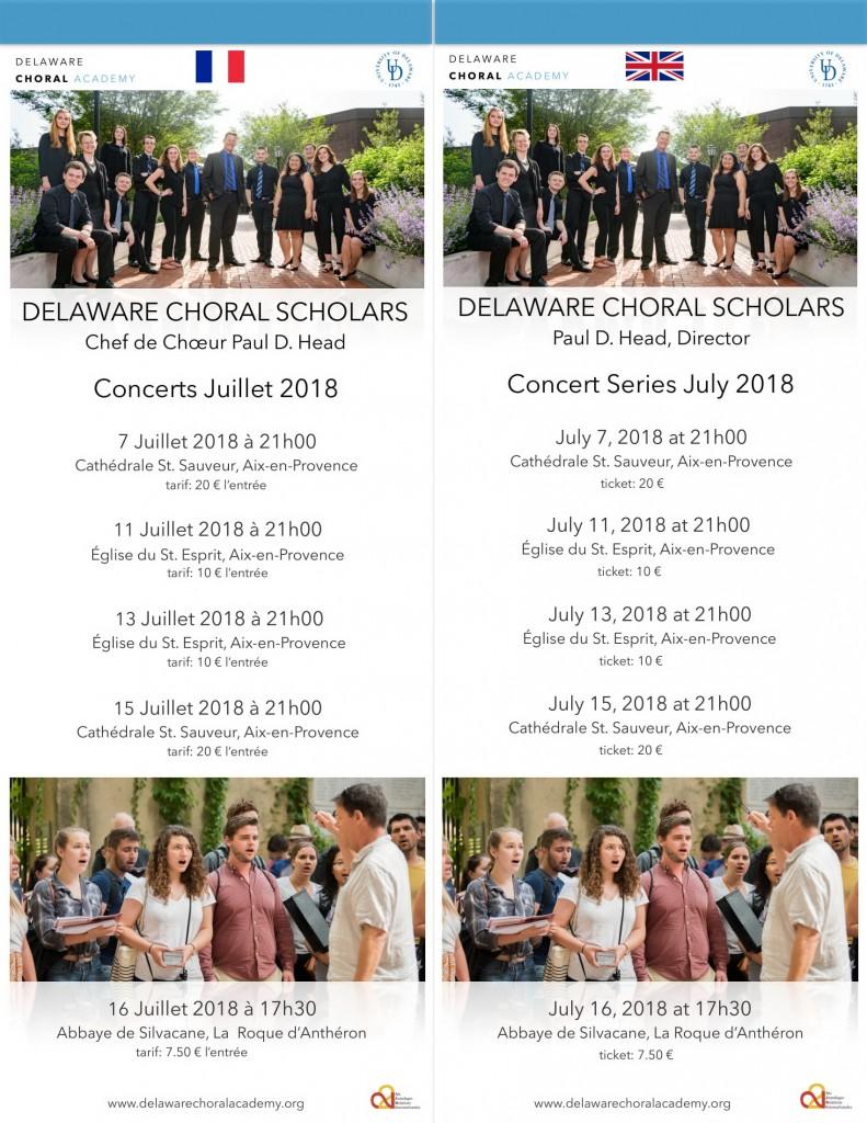 Affiche concerts Delaware