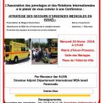 affiche_conférence_STRATEGIE DES SECOURS D'URGENCES MEDICALES EN ISRAËL