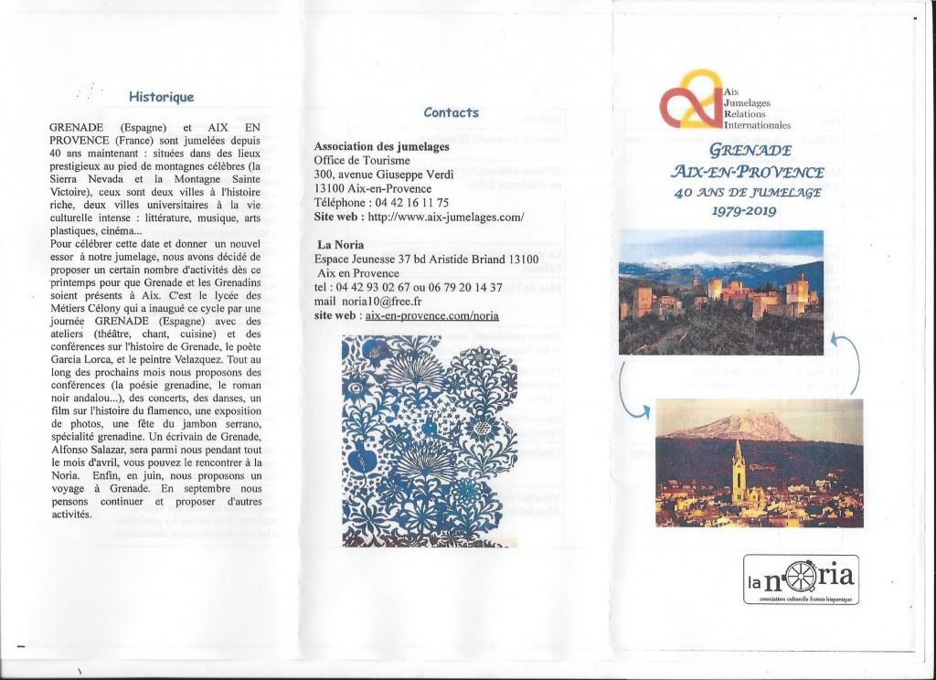 40ème anniversaire du jumelage Aix-Grenade