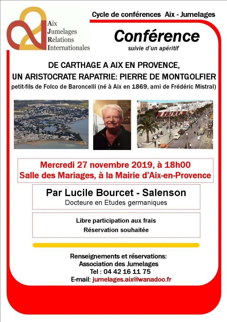 affiche_conférence_DE CARTHAGE A AIX EN PROVENCE-UN ARISTOCRATE RAPTRIE-PIERRE DE MONTGOLFIER_v1